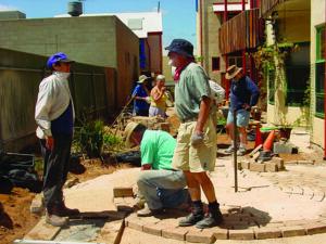 Regular working-bees help build community at Christie Walk.