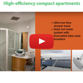 High-efficiency compact apartments