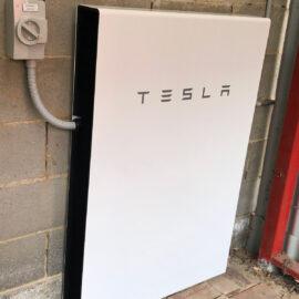Tesla battery storage installed